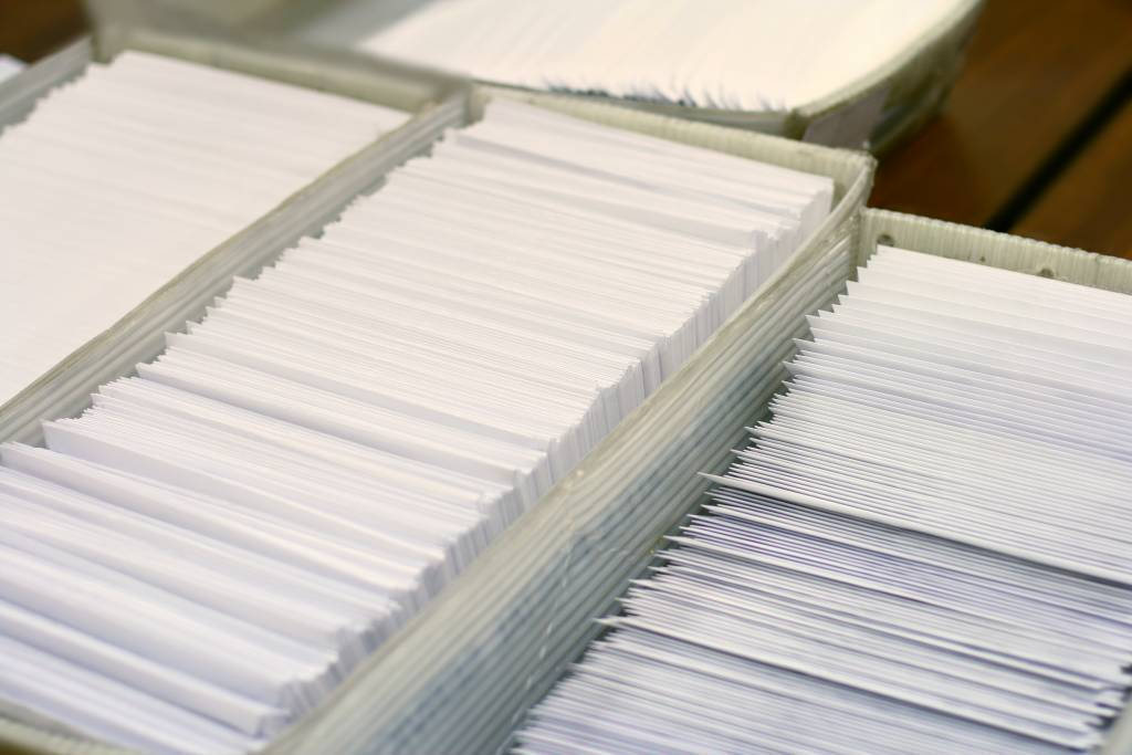 photo of transpromo mail ready for delivery